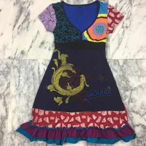 RARE VINTAGE DESIGUAL DRESS bought in Spain, M